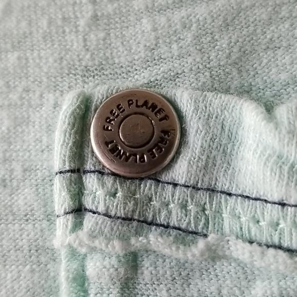 🐳Free Planet Turquoise Short Sleeve V Neck Shirt